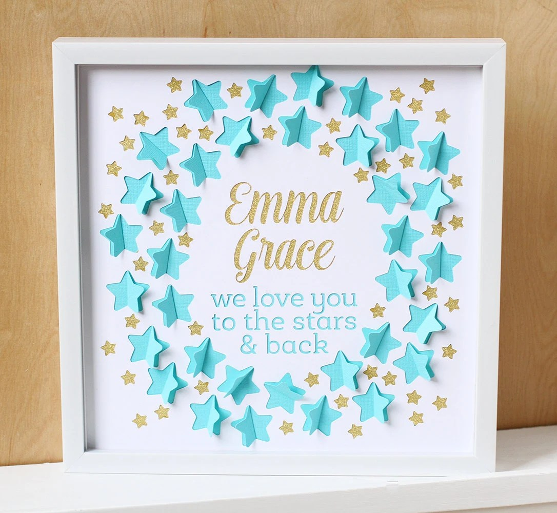 Baby Shower Guest Book Love You to the Stars Nursery Art