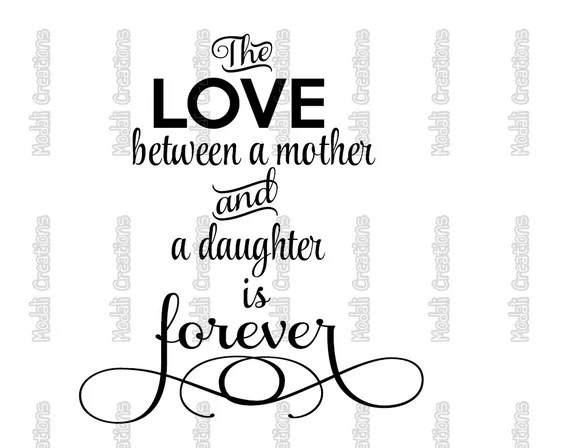 Download The Love Between Mother and Daughter SVG