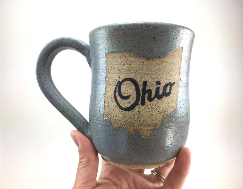 Mug - Ohio Matte Gray Gla...