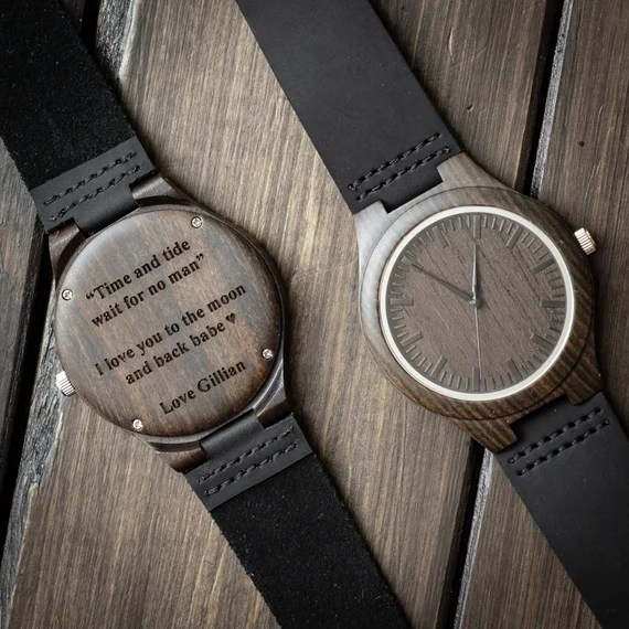 Engraved Wooden Watch