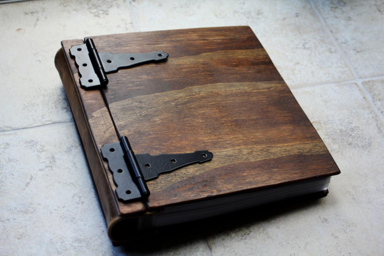 Wooden Book Large Rustic Baby Memory Album Large Custom