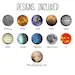 Interchangeable Galaxy Solar System Space Planet Necklace