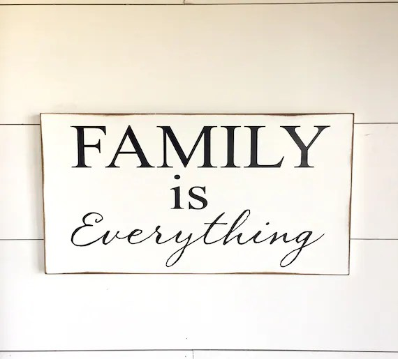 Large Wood Sign Family Is Everything Subway Sign Family