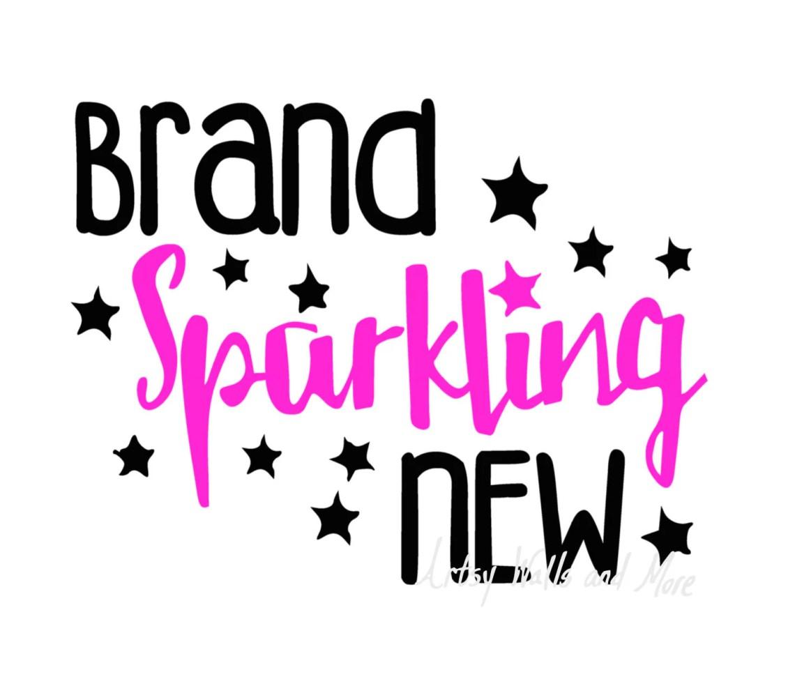 Download Brand Sparkling New svg cut file New Baby onesie svg DIY cut