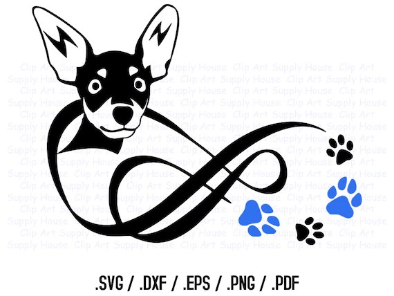 Download Chihuahua SVG Dog Love Infinity Puppy Clipart Veterinary