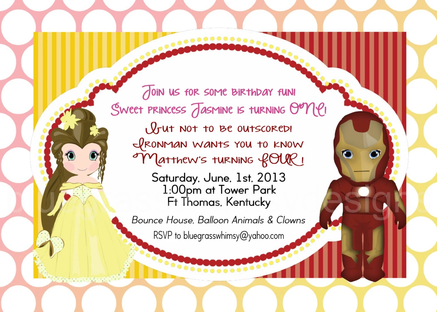 birthday party invitations for brother and sister Cogimbous