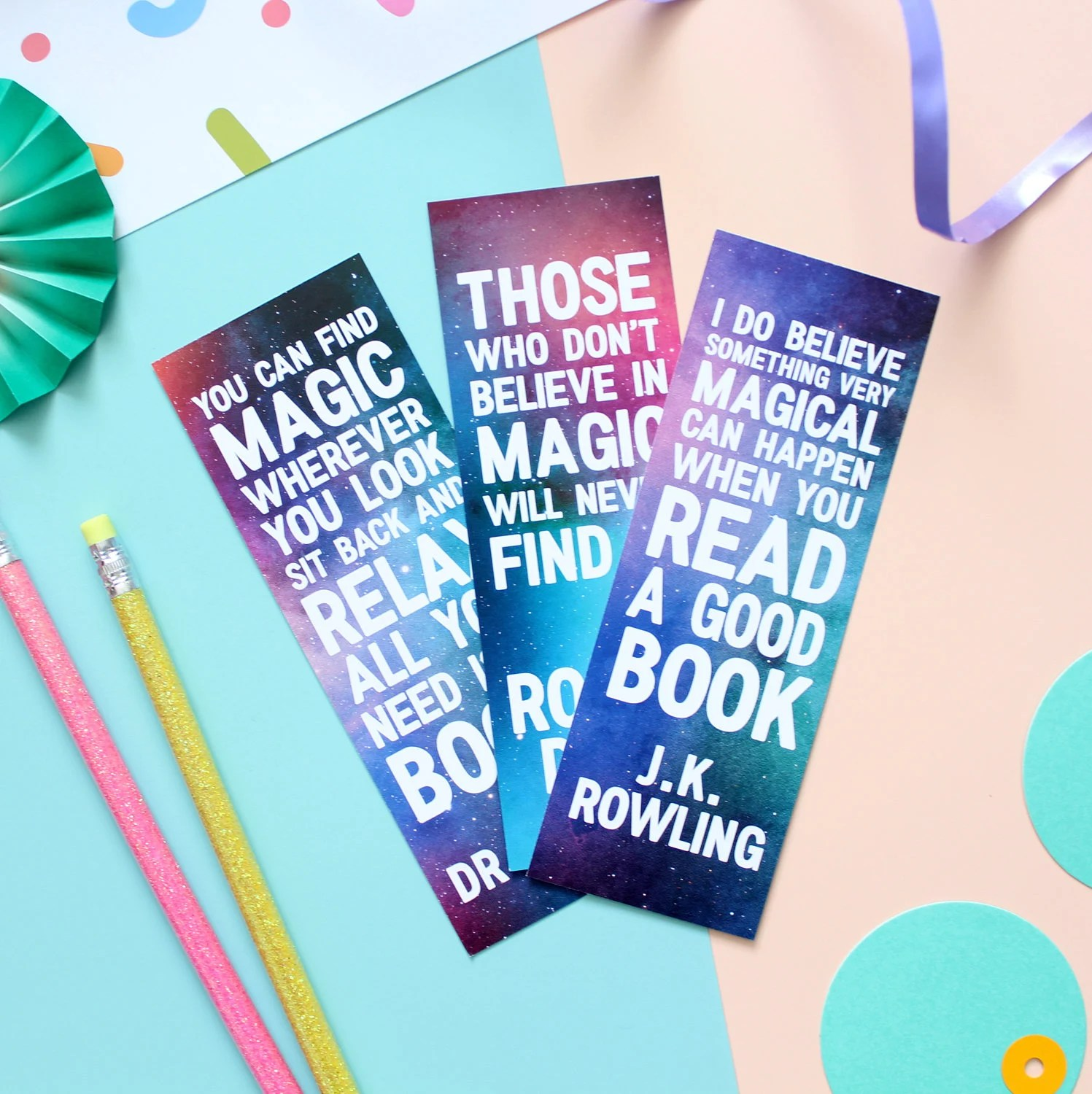 Magic Quotes Bookmark Set. Bookmarks. Magic Bookmarks. Book