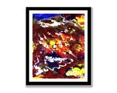 Rainbow abstract, Acrylic...