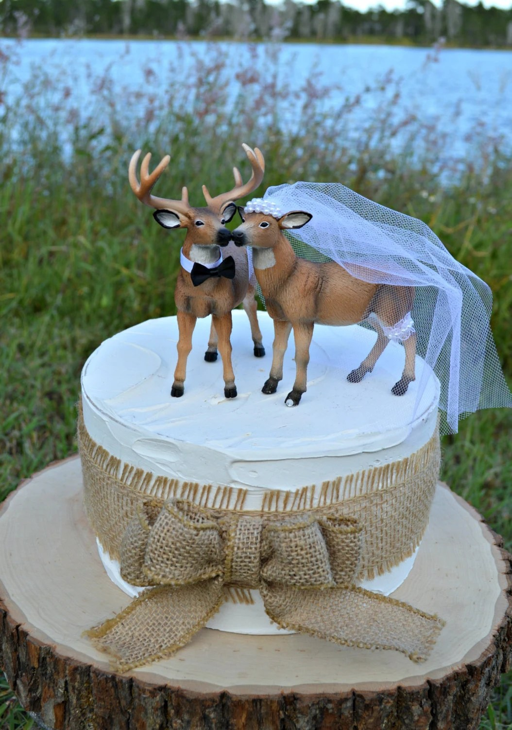 Doe and Buck cake topper Deer wedding cake topper Hunting