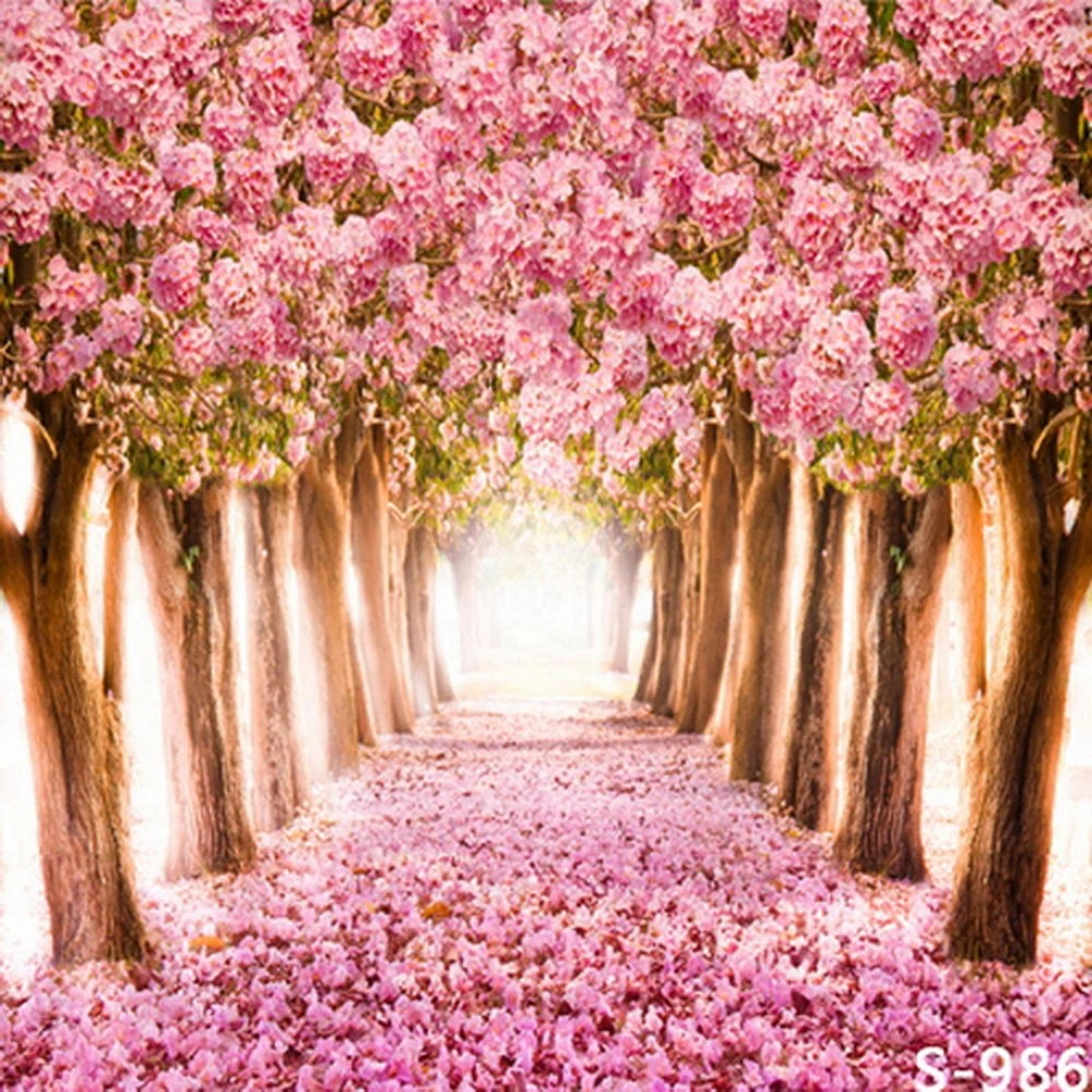 Flowers Road 10ft x 10ft Backdrop Computer Printed Photography