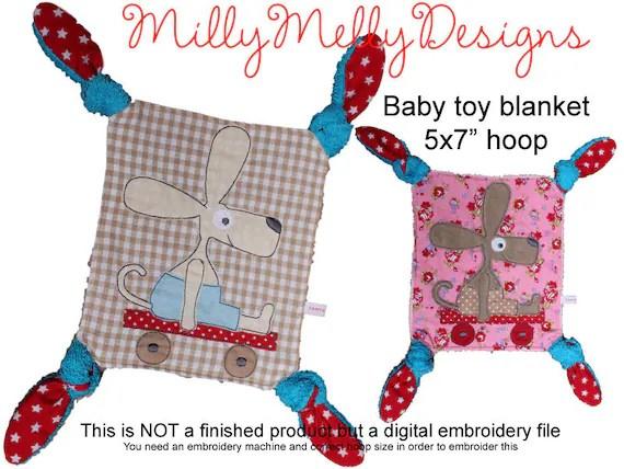 5x7 hoop - Baby Toy Blanket - ITH - In The Hoop - Machine Embroidery Design File, digital download