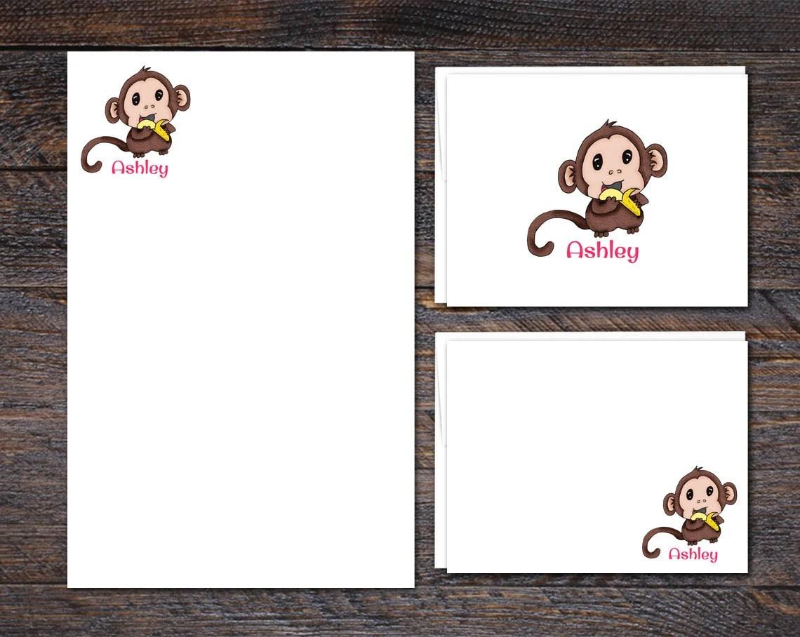Monkey Stationery Set - N...