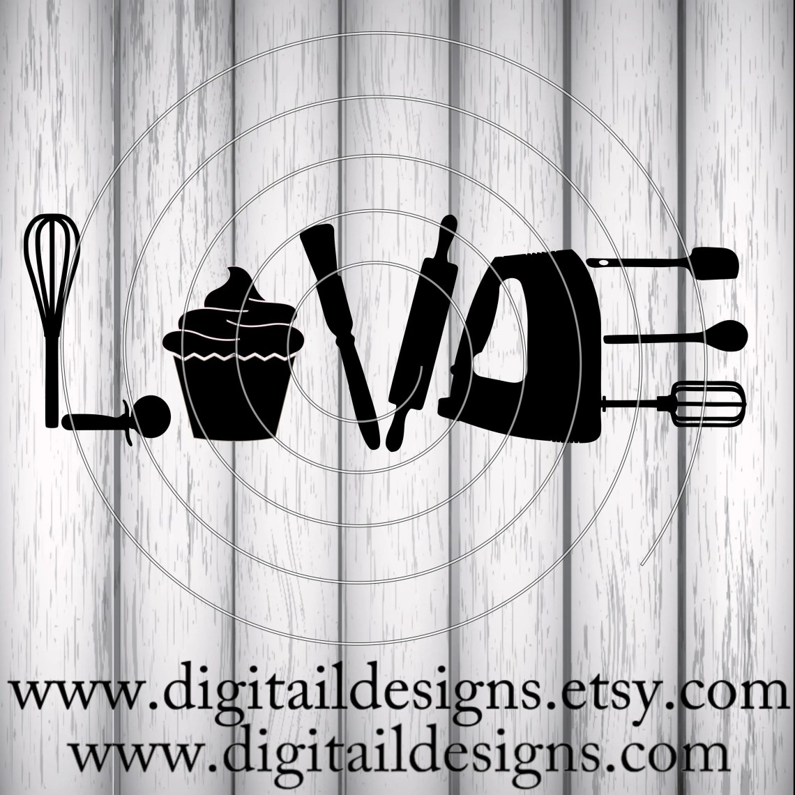 Download Love Baking SVG PNG DXF Eps Fcm Ai Cut File for Silhouette