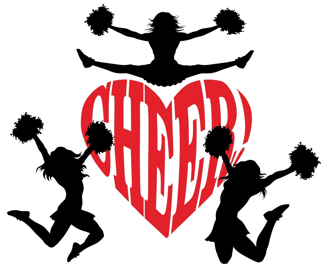 Download Cheerleader SVG, Cheer SVG, Cheer heart, Cheerleading ...