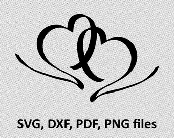 Download Two hearts svg | Etsy