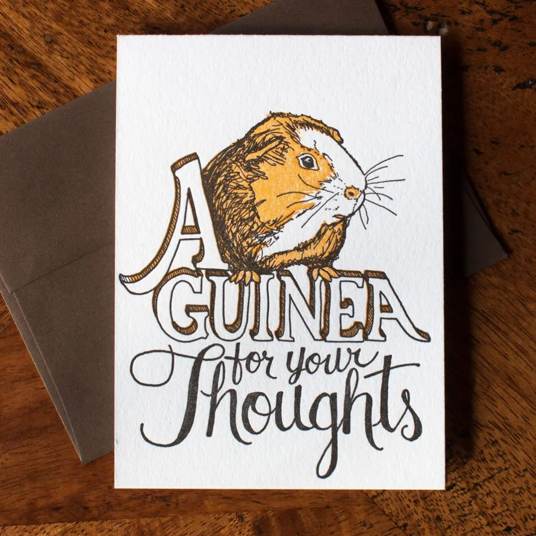 Guinea for your Thoughts ...