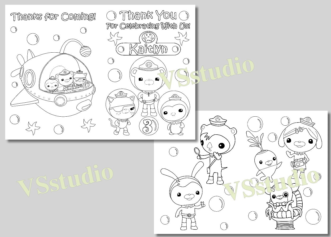 Octonauts Party Thank You Coloring Pages Activity Book Pdf