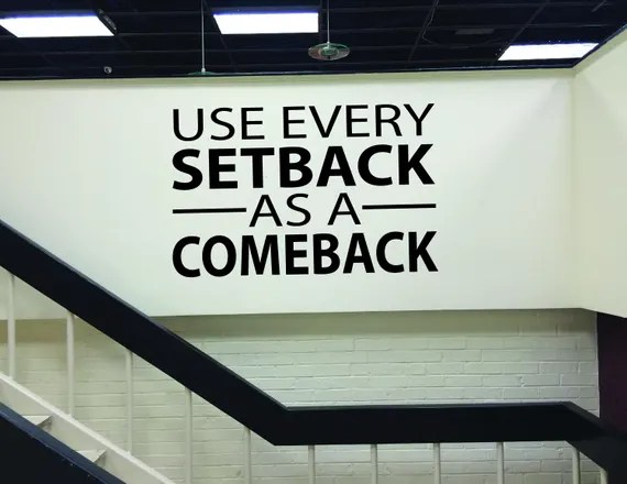 Every Setback as a Comeback Decal by JandiCoGraphix