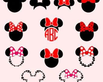 Download Disney SVG Mickey Head Love ClipArt Iron On Vinyl