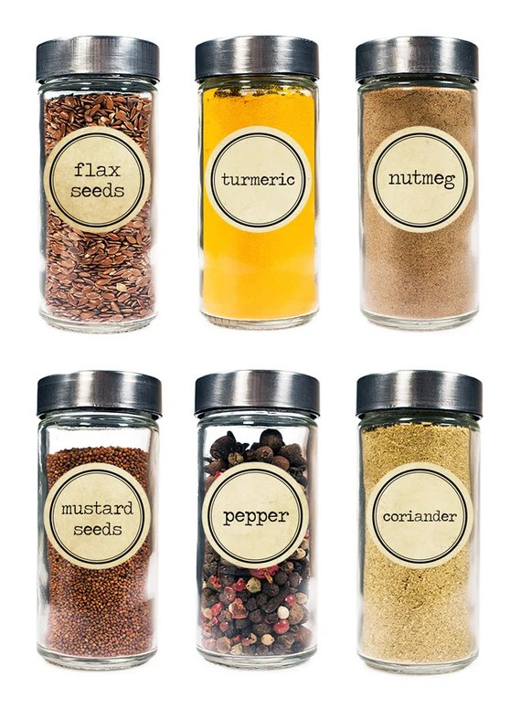 30 Spice Jar Labels - Shipped