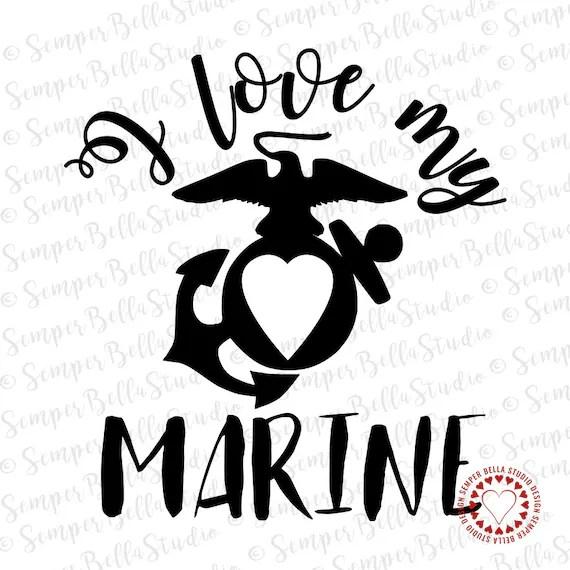 Download I Love My Marine Decal USMCMarine CorpsMarine