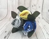 Rose Sock Bouquet - Blue/...