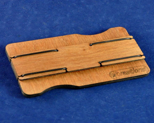 Slimline mahogany wallet:...