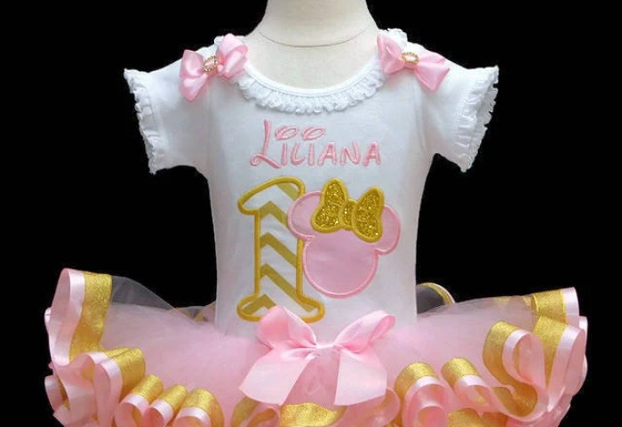 1st Birthday Girl Outfit Pink And Gold 1st Birthday Outfit Baby Girl
