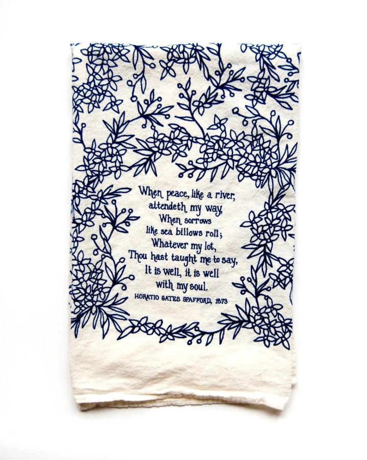 Hymn Tea Towel It is Well...