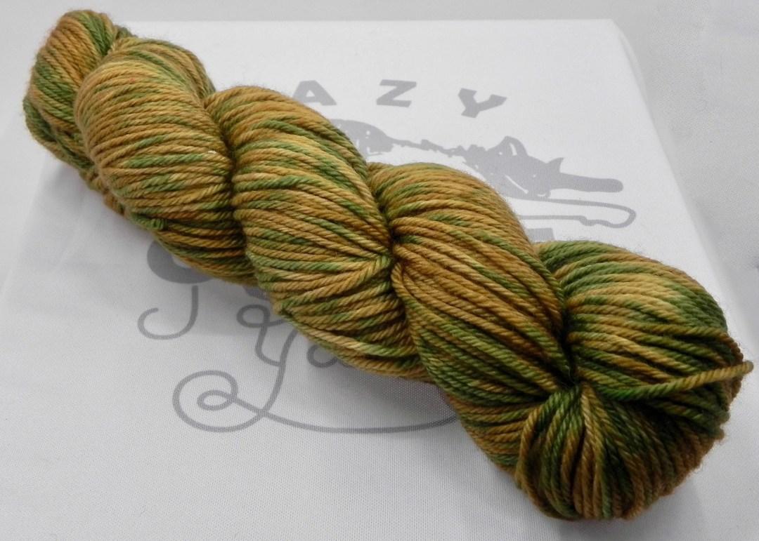 Dancing Baby Groot: 218 yards of 100% Superwash Merino wool in Terrestrial yarn base.