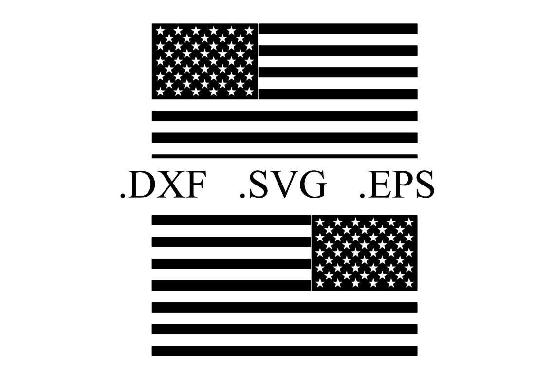 Download American Flag Vector Cut File DXF SVG EPS