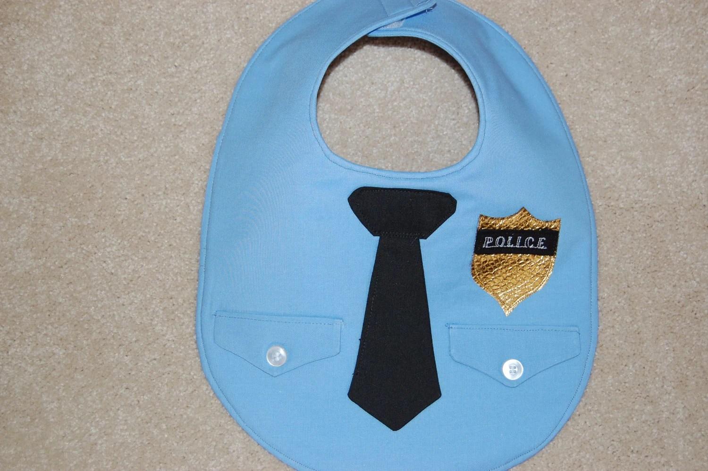 Police Officer Baby Bib