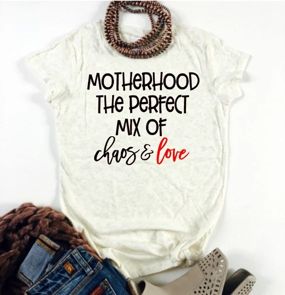 Download Motherhood the Perfect Mix of Chaos and Love Svg Quote Svg