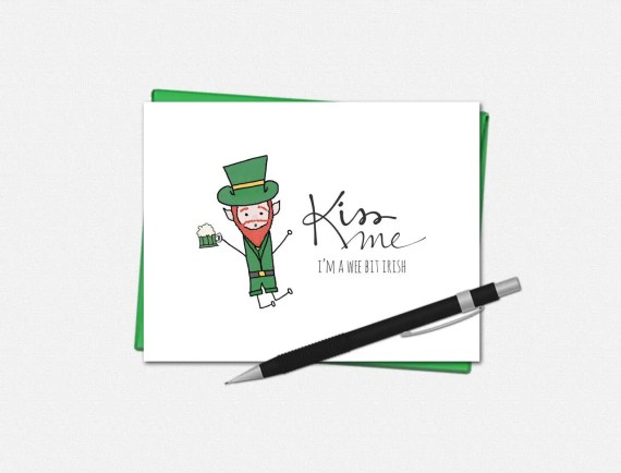 Kiss Me - St. Patrick's Day Card
