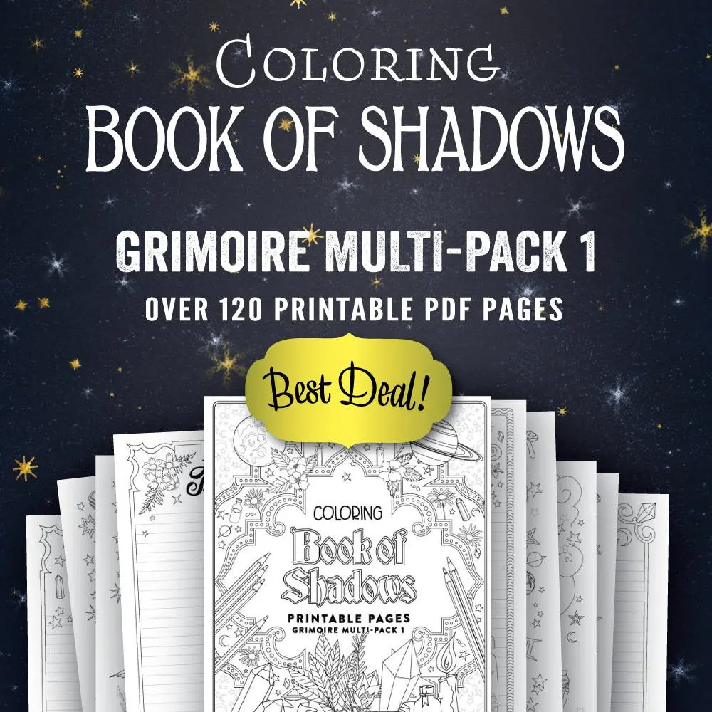 Grimoire Multi Pack I Printable Book Of Shadows Pages PDF