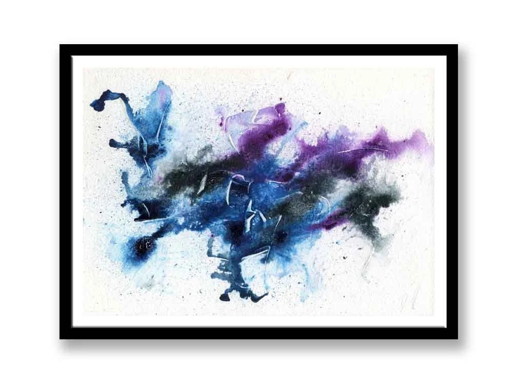 Purple, blue, and black A...