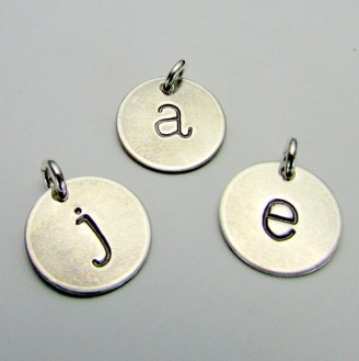 letter stamped pendant