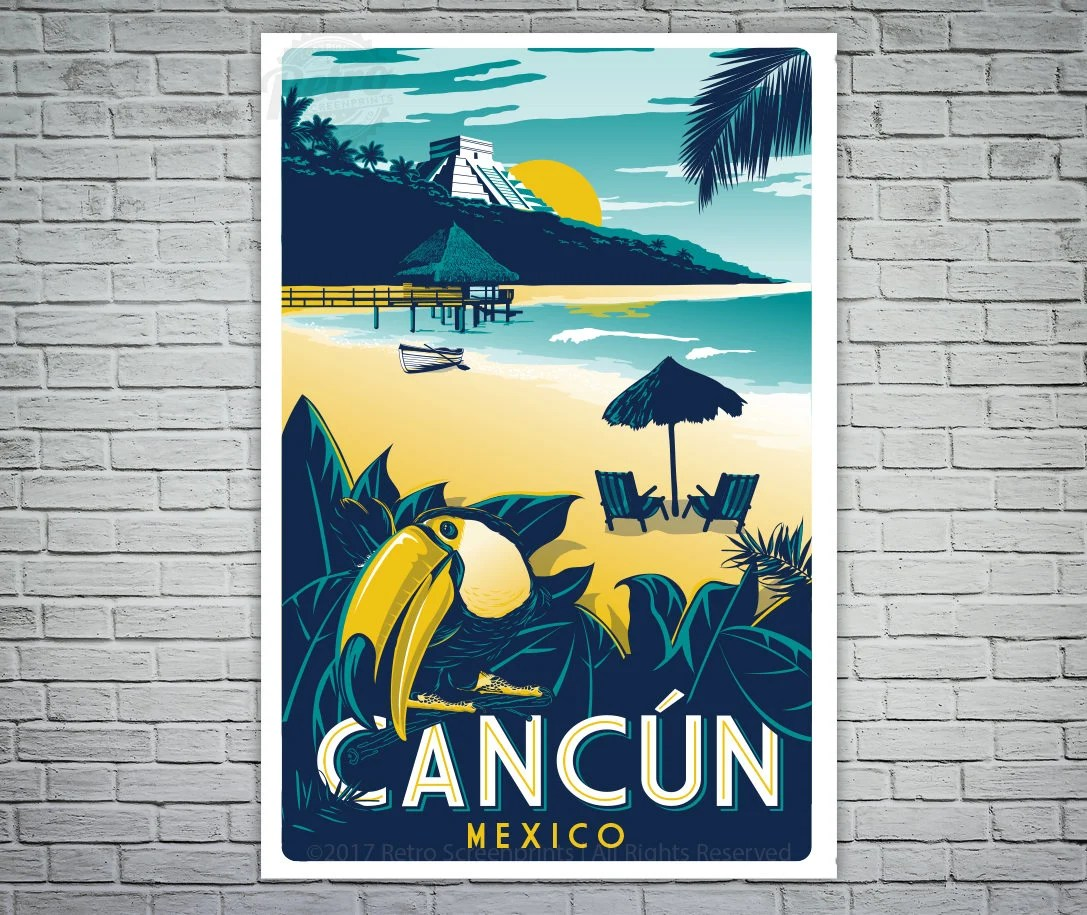 Cancun Mexico Etsy