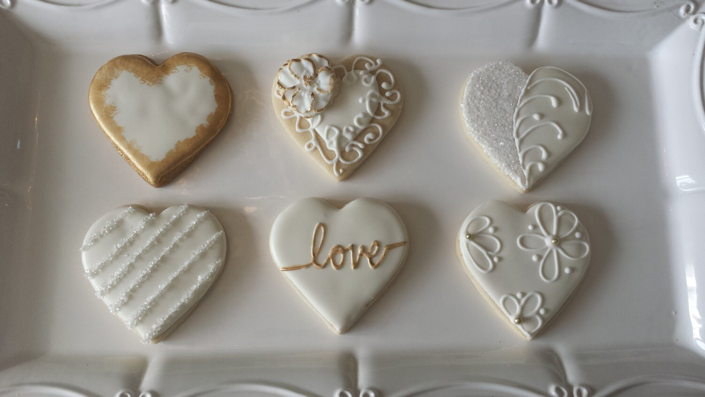 Wedding Sugar Cookies Engagement Party Cookies Anniversary