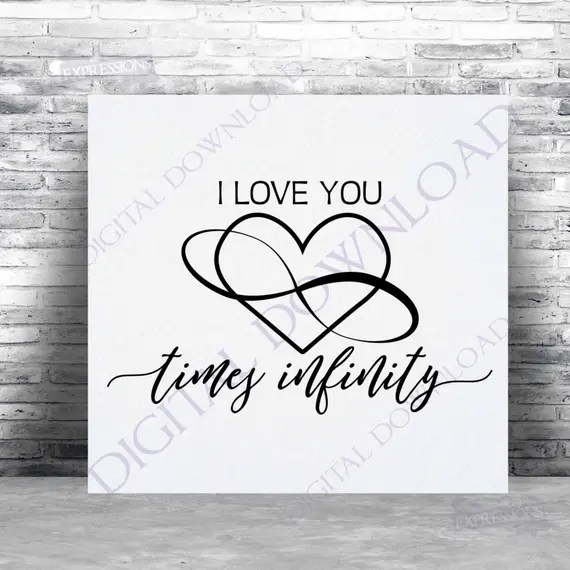 Download I love you times infinity symbol SVG Quote Vector Digital