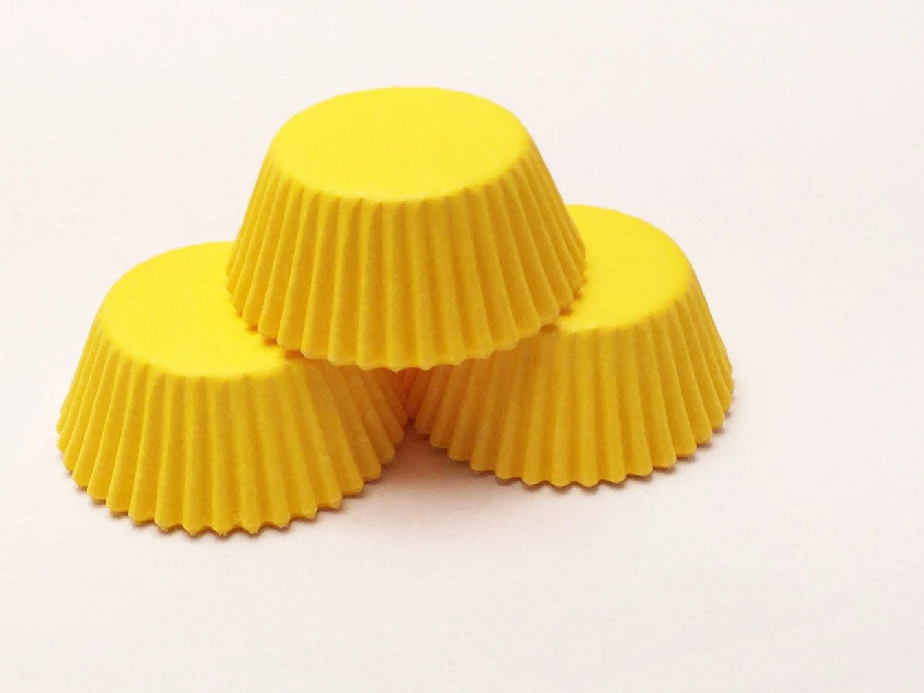 48 Bright Yellow Mini Size Cupcake Liners Baking Cups