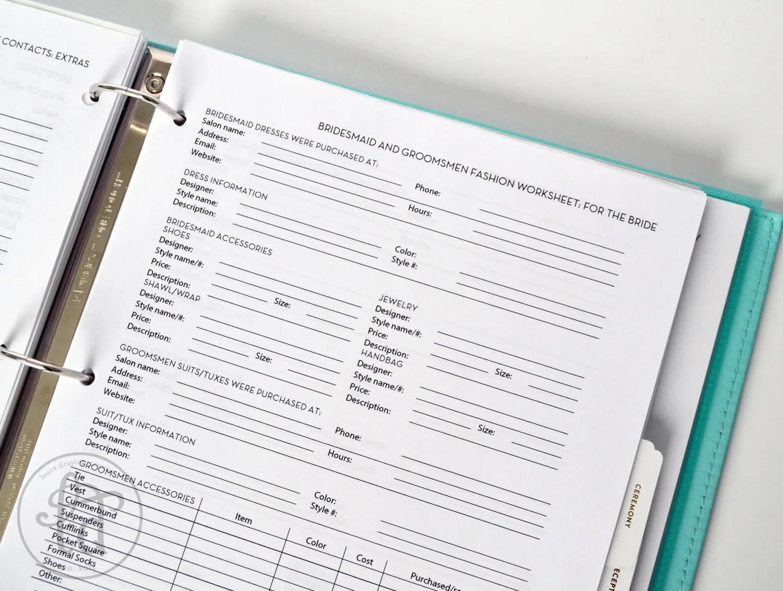 Ultimate Wedding Planner Over 75 Organizational Printables
