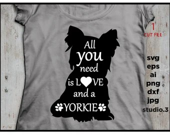 Download Yorkie silhouette | Etsy