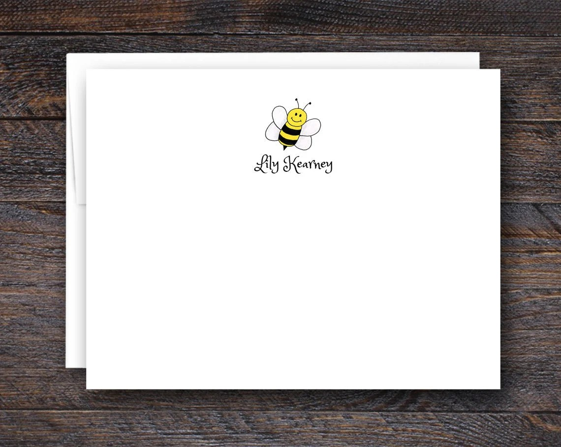 Bumblebee Note Cards - Pe...