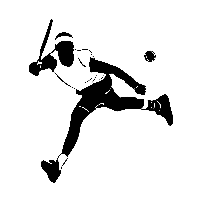 Tennis Man Player Ball Graphics Svg Dxf Eps Cdr Ai