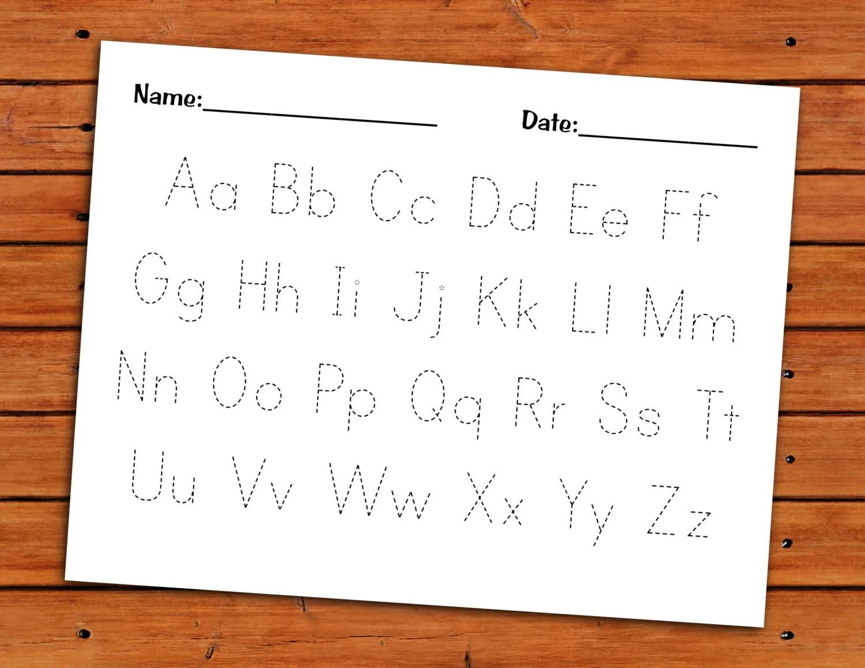 Alphabet Trace Worksheet Printable