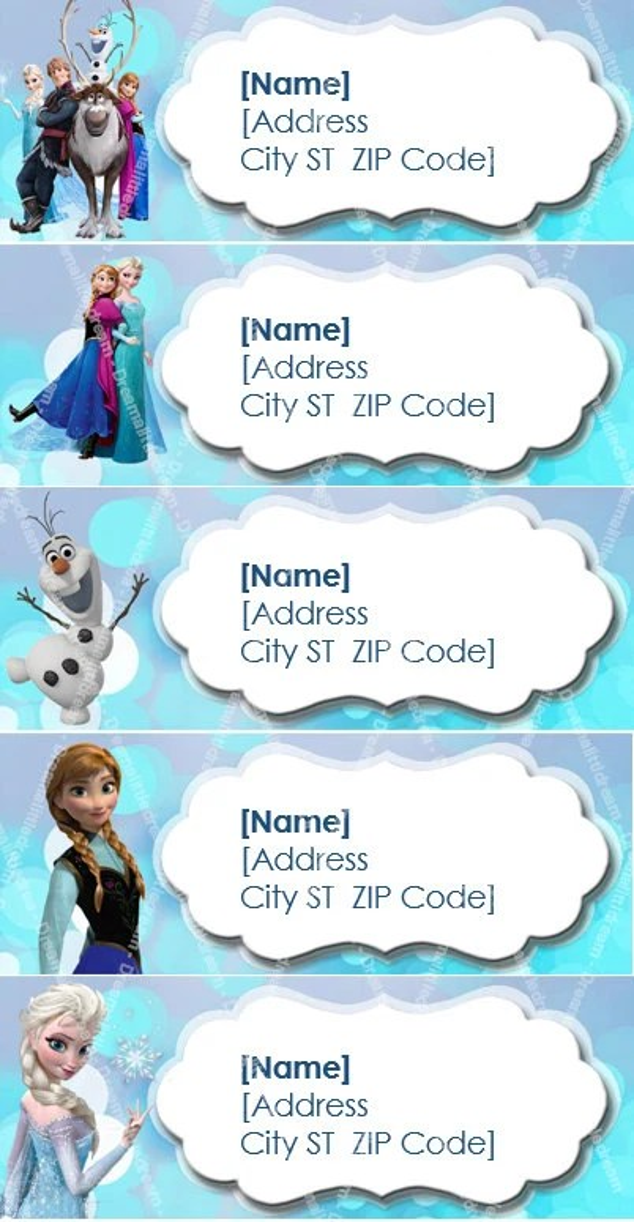 Disney Frozen Printable Address Label