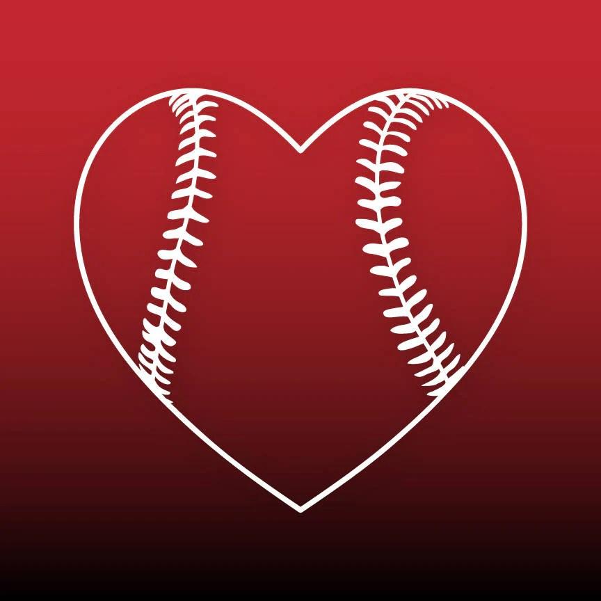 Download Baseball heart svg Baseball svg files Baseball cut file ...