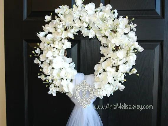 Wedding Wreath-summer Wreath-front Door Wreaths-outdoors White
