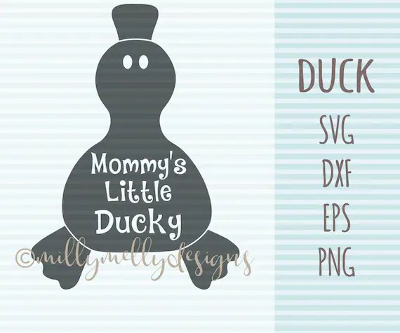 Mommy's little Ducky SVG cut file, digital download
